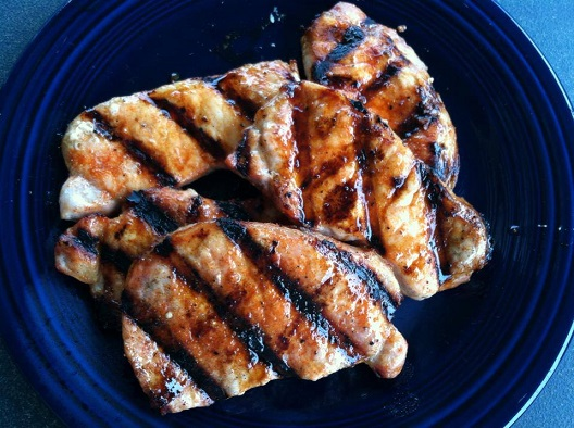 GrillGrates Pork Chops Grilled