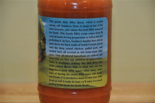 KW's BBQ Sauce Label